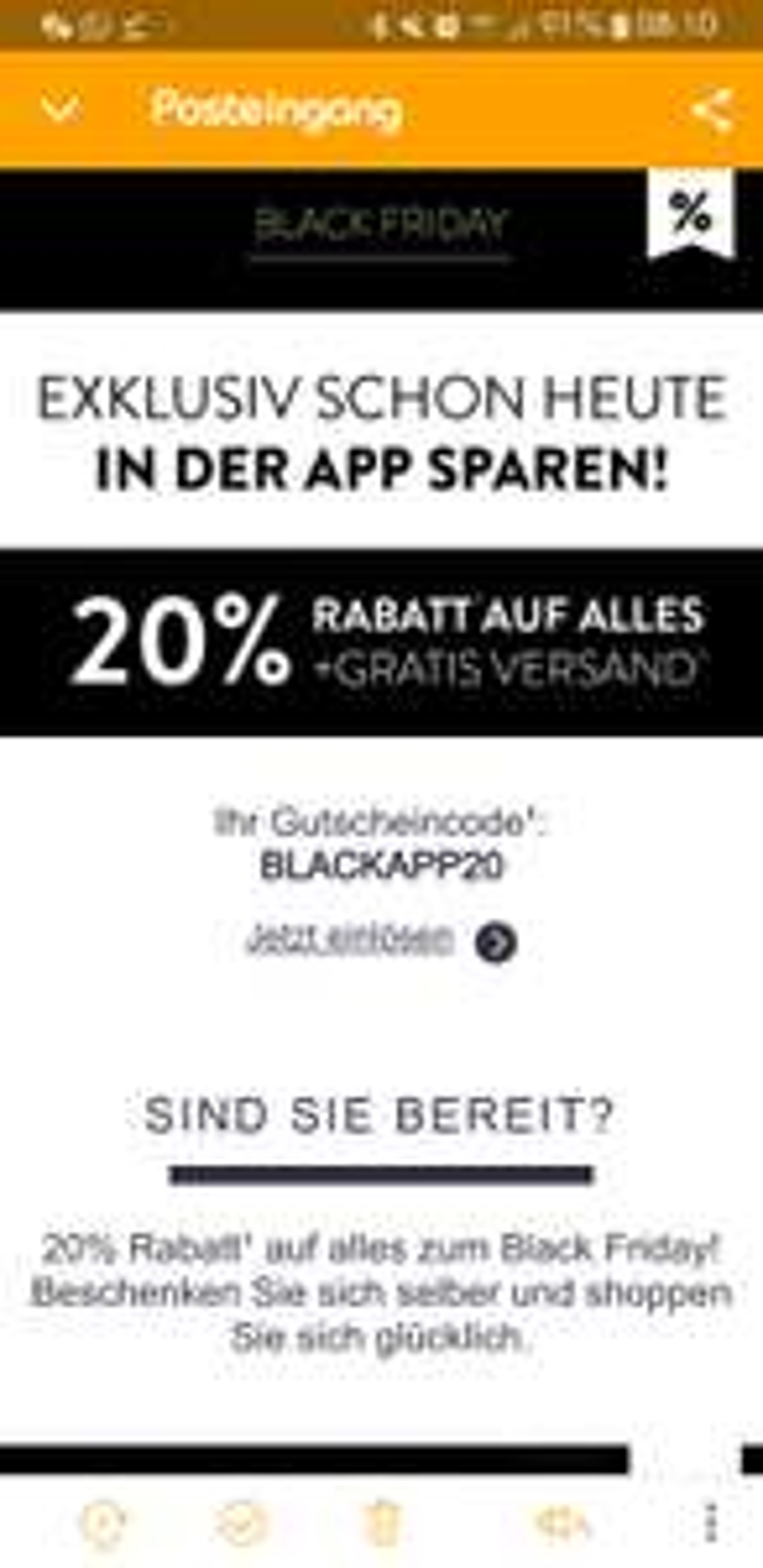 Mirapodo Gutschein - Black Friday - 20%
