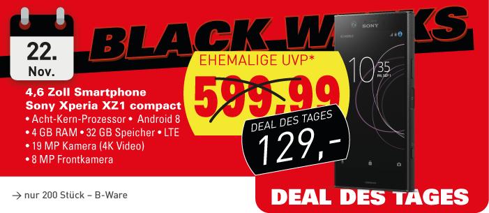 [Lokal] MEDION Fabrikverkauf: Sony XPeria XZ1 compact B-Ware