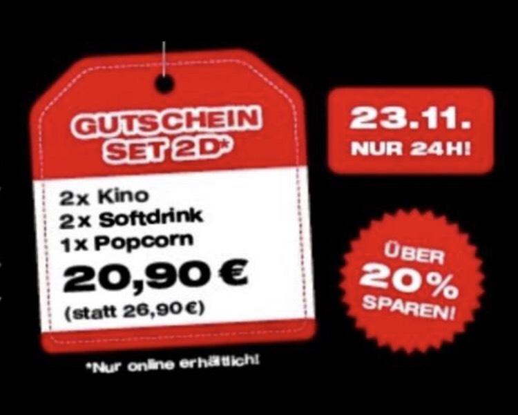 Kinopolis Gutschein 2D am 23.11. im Online-Shop