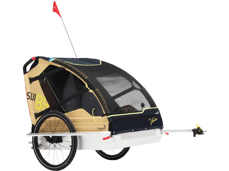 Kinderfahrradanhänger Leggero Vento V89 Surf für 2 Kinder