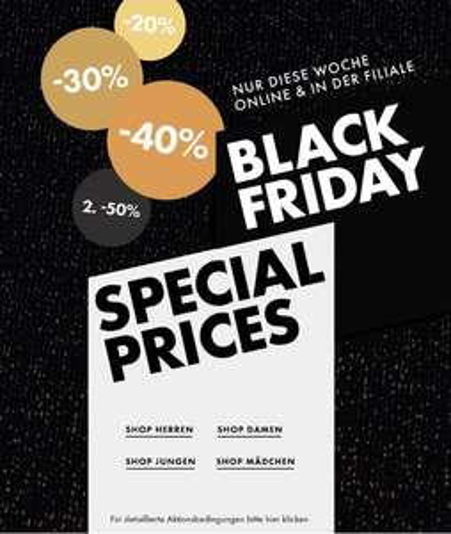 [Black Friday] WE Fashion bis zu 40% auf ausgewählte Artikel Online und in den Filialen