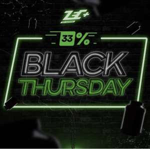 33% auf alles bei Zec Plus Zec+ BLACK THURSDAY Supplemente