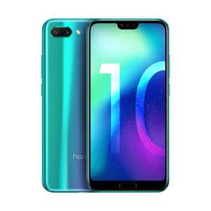 Honor 10 - 64 GB in grau und schwarz + Honor10 PC Case Blau