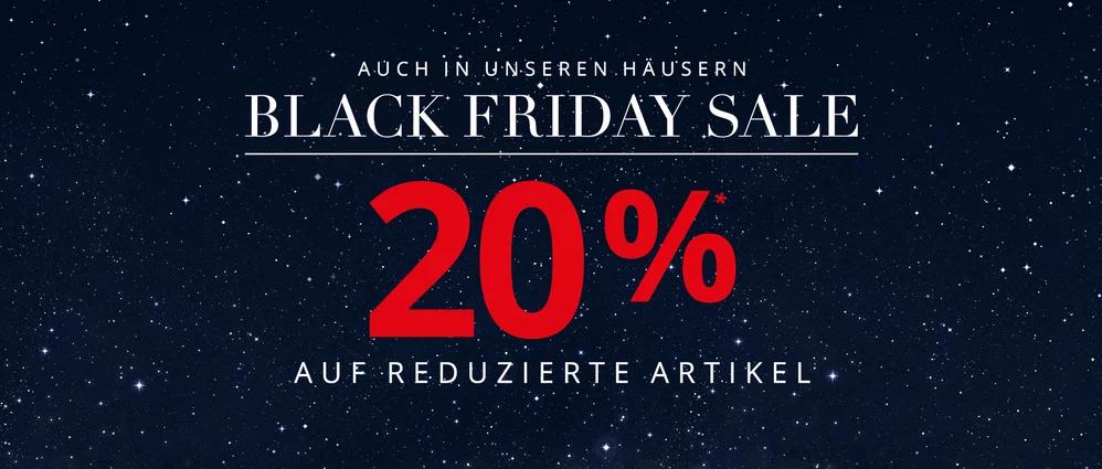 [LOKAL und ONLINE] 20% BLACK FRIDAY SALE bei Peek & Cloppenburg auf Sale (+6% Shoop möglich)