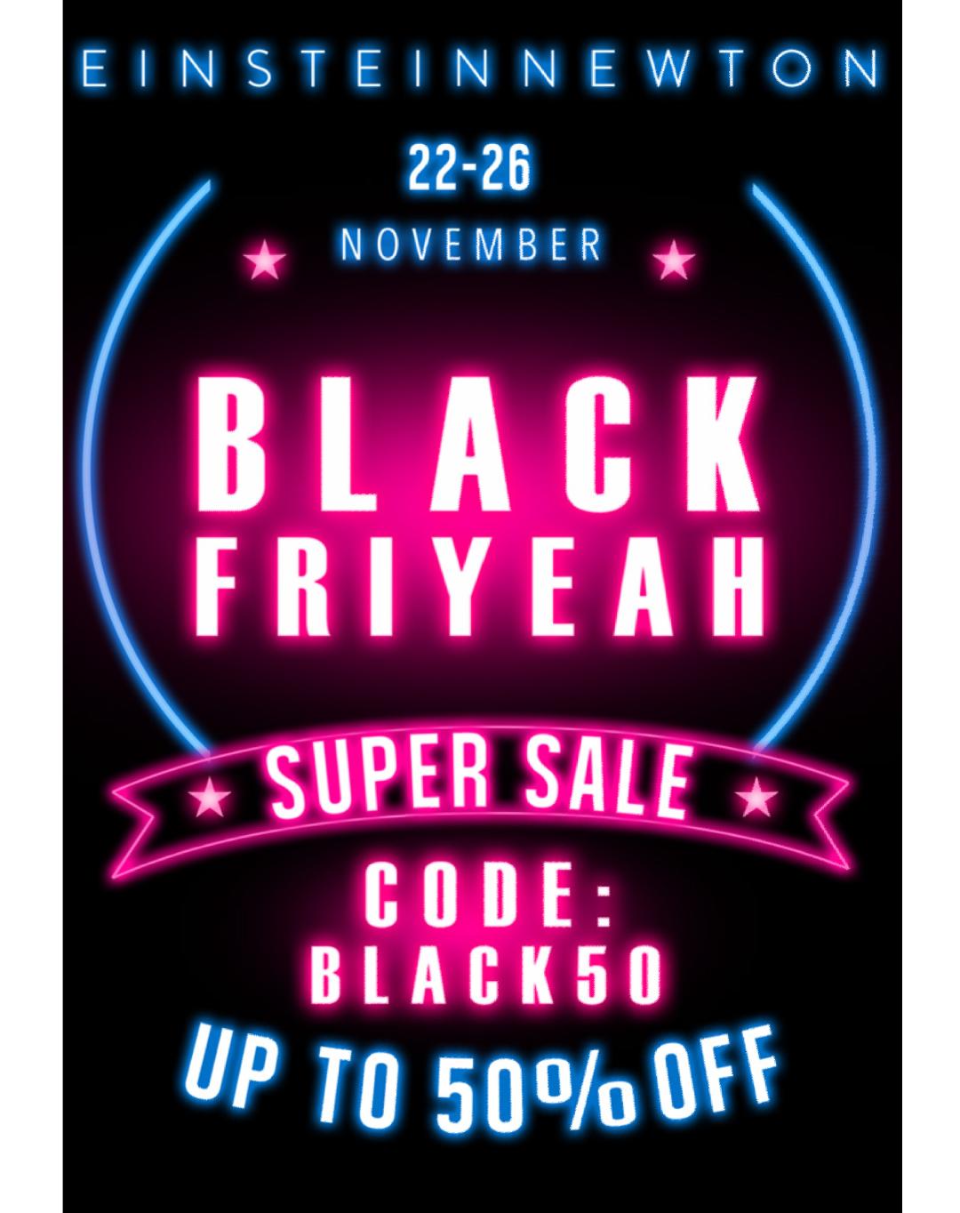 Black Friyeah bei Einstein&Newton - 50% auf alles!