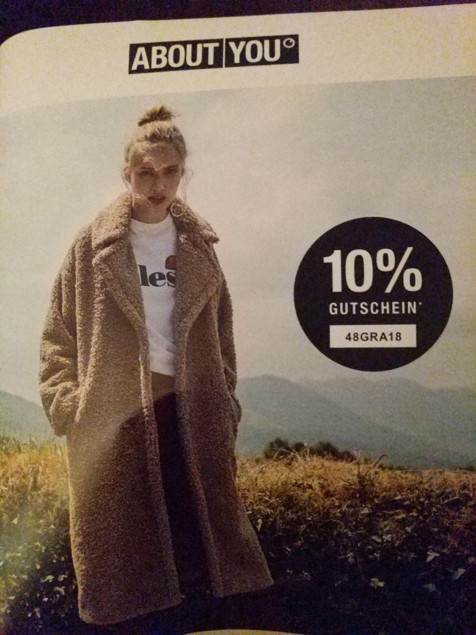 10 % AboutYou Gutschein (MBW 75 €)