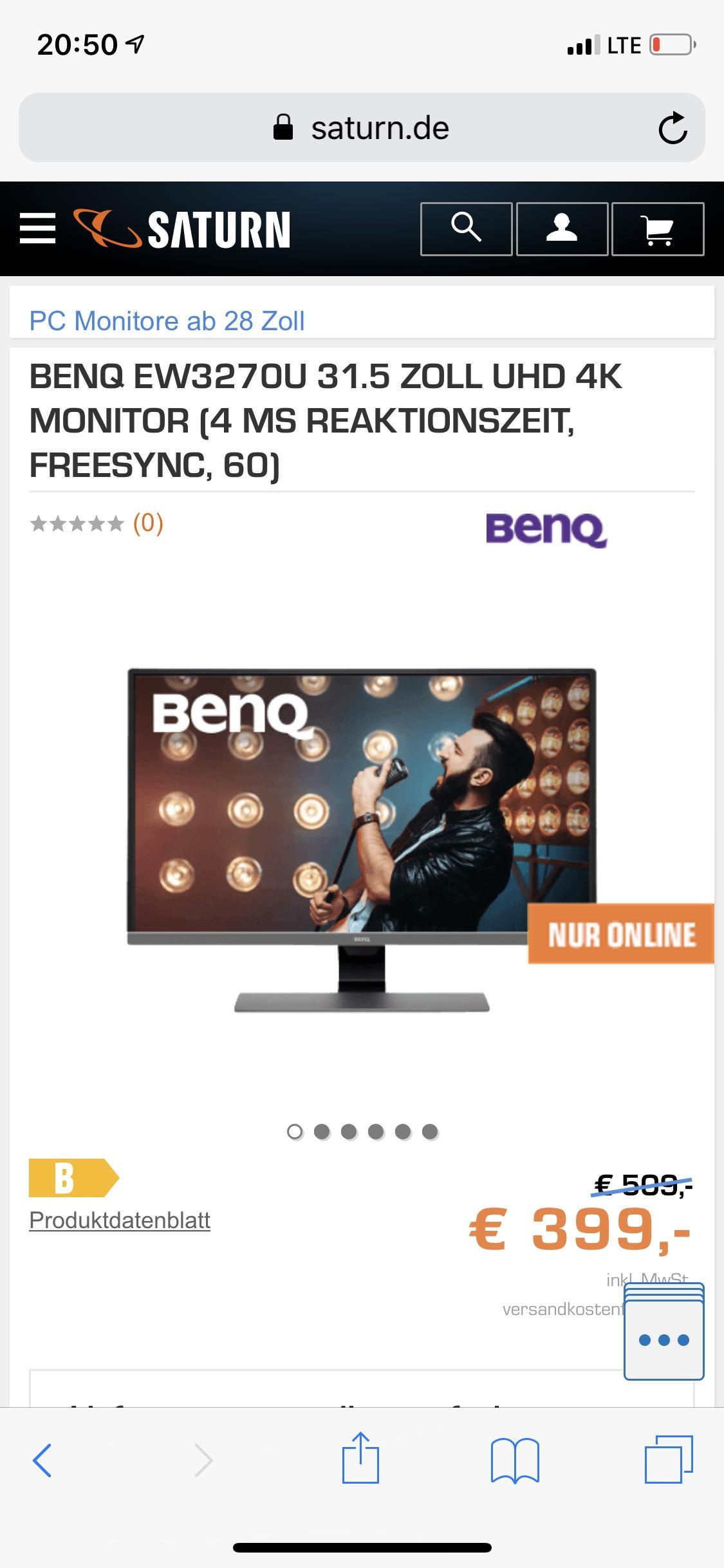 BenQ EW3270U 31.5 Zoll UHD