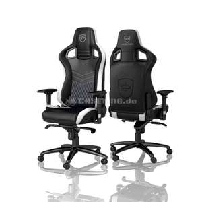 noblechairs EPIC Limited Edition Gaming Stuhl - schwarz/weiß/blau inkl. Versand