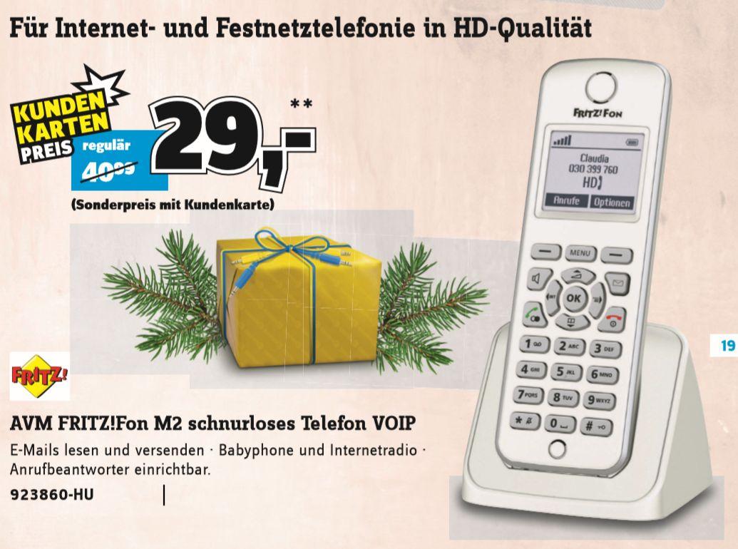 [Conrad Nur Mit Kundenkarte]  AVM FRITZ!Fon M2 Babyphone, Freisprechen Beleuchtetes Display Weiß, Silber ab 29,-€