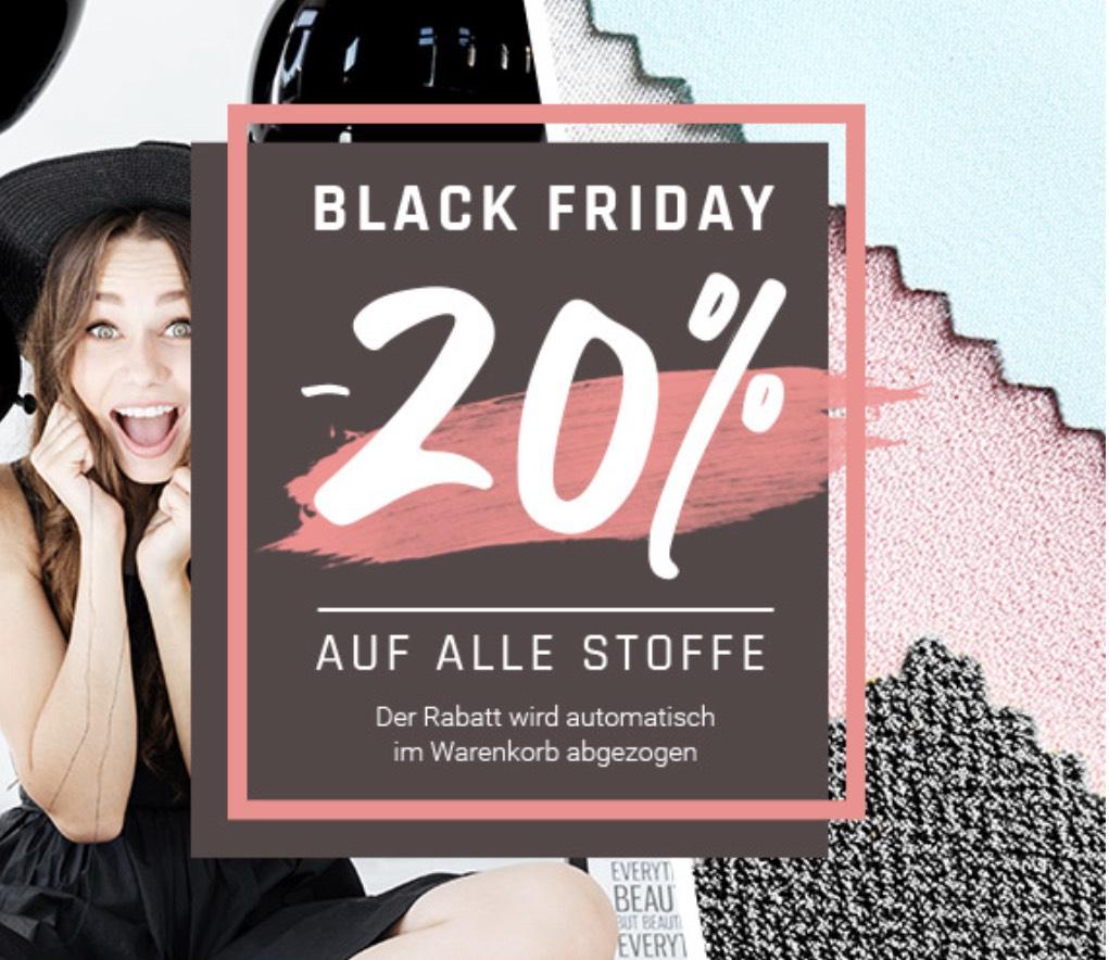 20% auf alle Stoffe bei Stoffe.de