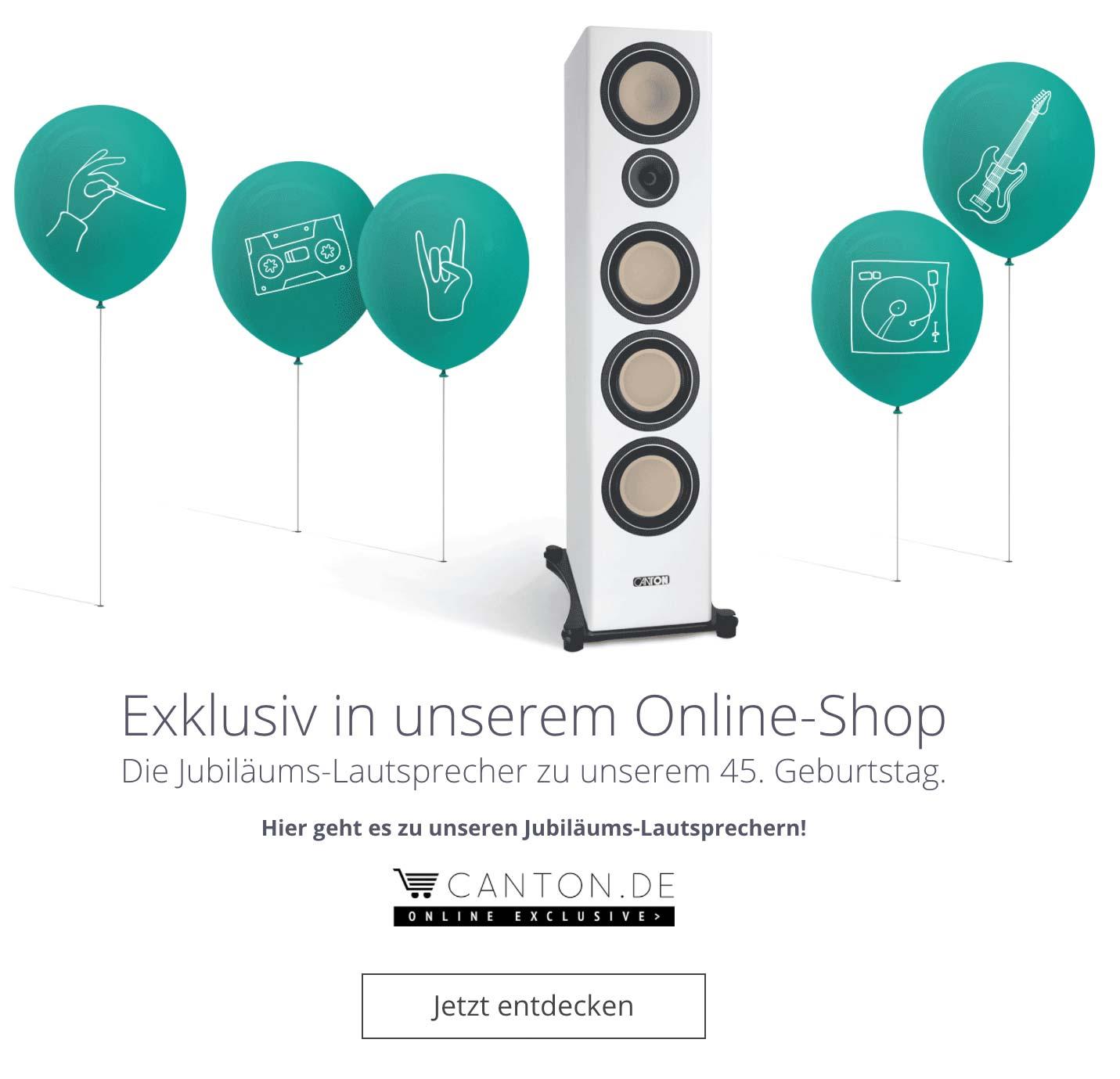 -10% auf alle online verfügbaren CANTON Lautsprecher und Zubehör