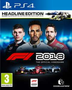 F1 2018 Headline Edition (PS4 & Xbox One) für je 24,68€ (ShopTo)