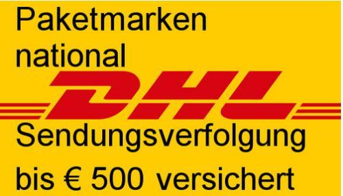 DHL Paketmarken 2kg für 3,90€ (Normalpreis: 4,90) - 10kg für 4,90€ (Filialpreis: 6,90€) - 20kg - 7,49 € (Filialpreis: 11,90€) - 31,5kg - 8,49€ (Filialpreis: 13,90€] | ab 10Stück noch günstiger