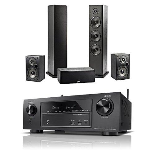 [Amazon] Denon AVRX1400H 7.2-Kanal AV-Receiver mit HEOS Integration + 2x Polk Regal-Lautsprecher + 2x Polk Standlautsprecher +1x Polk Center
