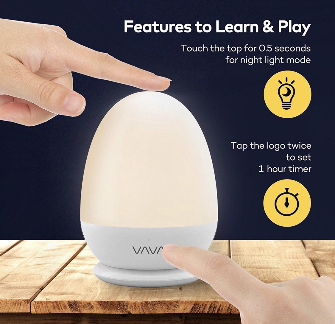 amazon blitzangebot nachtlicht kind vava kinder baby nachttischlampe led. Black Bedroom Furniture Sets. Home Design Ideas