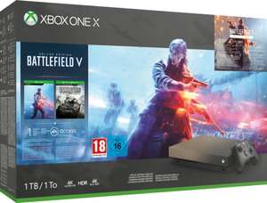 GameStop XBox1-Deals: Xbox One X 1TB Konsole Gold Rush inkl. Battle Field V, BF 1 und BF 1943