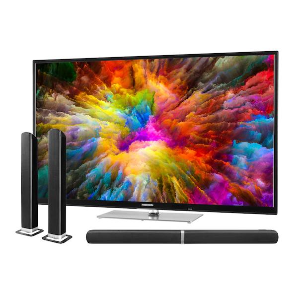 MEDION X15523 55 Zoll 4K TV + Soundbar
