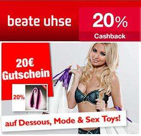 [qipu] Beate Uhse: 20% Cashback + Vibrator gratis  + 20€-Gutschein für nächste Bestellung