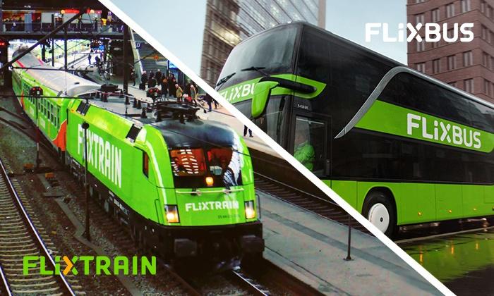 [groupon] Flixbus oder Flixtrain einfache Fahrt für 11,99€, Hin- und Zurück für 19,99€