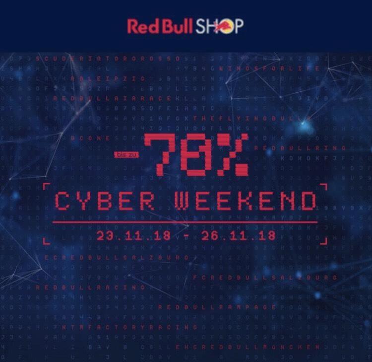 [Cyber Weekend 23.-26.11.] Red Bull Shop bis zu (!) 70 % auf ausgewählte Artikel