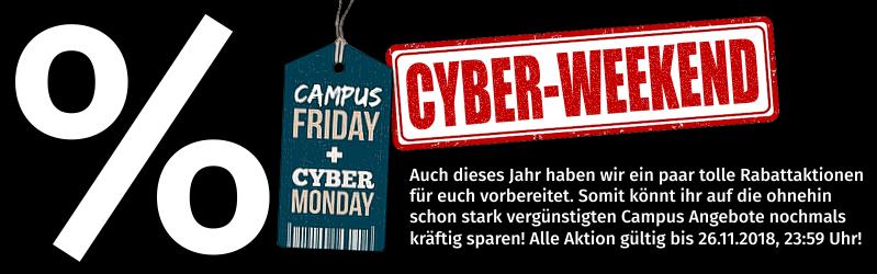 campuspoint.de - Angebote zum CampusFriday/CyberWeekend - Sammeldeal - 3% Aktion, 5% auf Fundgrube, reduzierte Notebooks