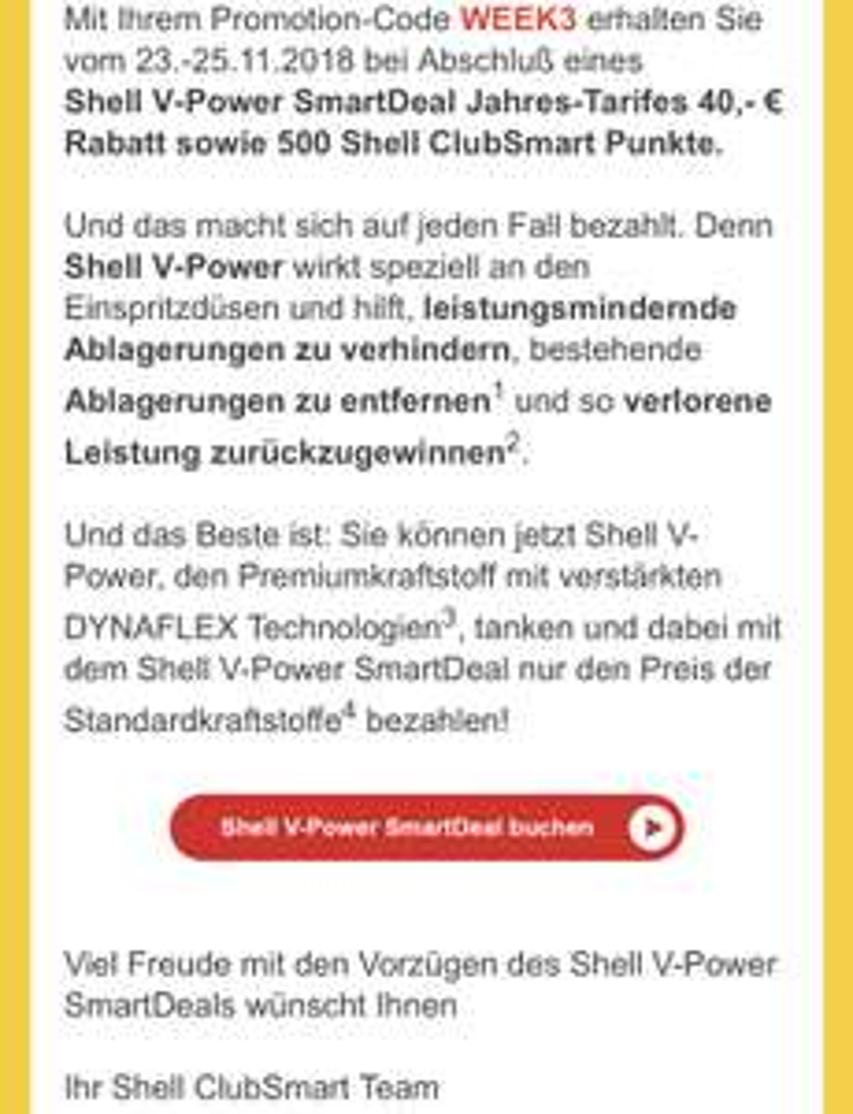 Shell SmartDeal 1 Jahr für 79,99€