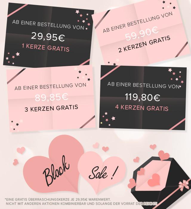 [JuwelKerze.de] 1 Kerze gratis ab 29,95€ Bestellwert   2 Kerzen gratis ab 59,90