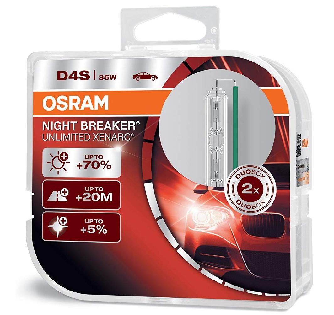 Osram XENARC Night Breaker Unlimited D4S HID Xenon-Brenner, Kfz-Lampe, 66440XNB-HCB, Duobox (2 Stück)