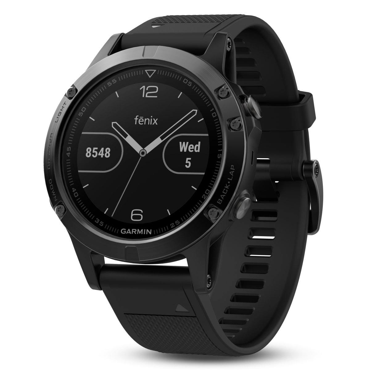 GPS-Uhr Garmin fenix 5 Saphir - schwarz