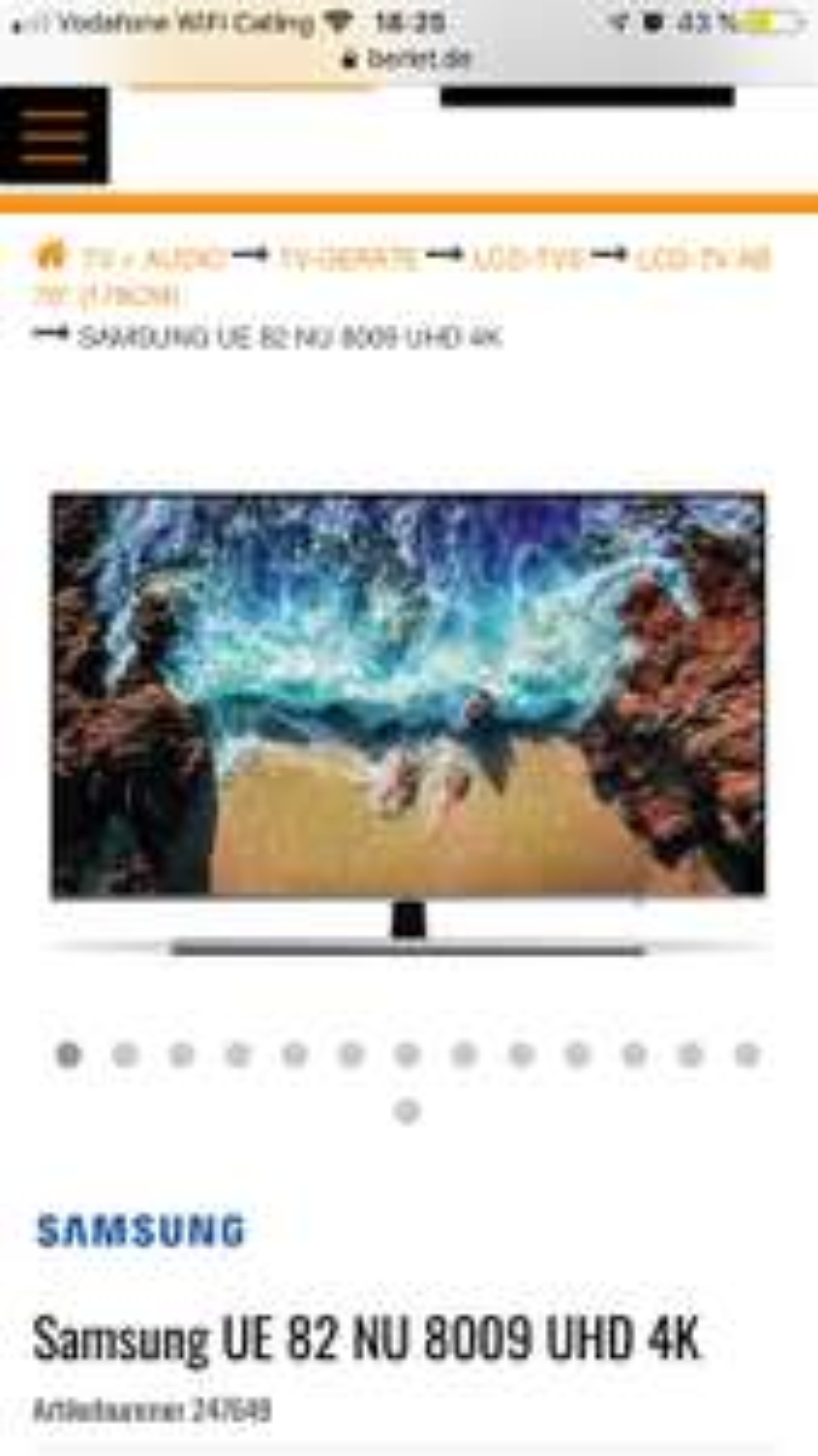 Samsung UE 82 NU 8009 UHD 4K