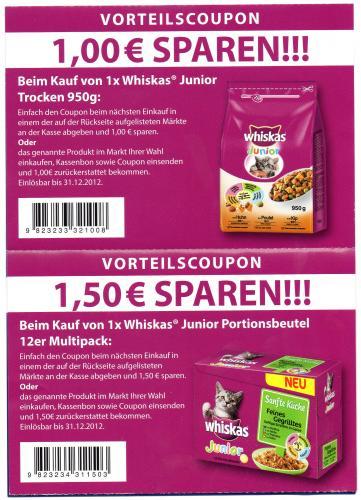 SPAR Coupons für Whiskas / Catsan [individuell einsetzbar]