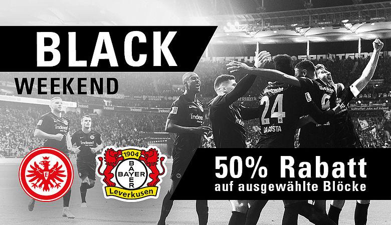 Eintracht Frankfurt - Bayer Leverkusen zum halben Preis! 22,50 € (statt 45,-) bzw. 18,50 (statt 37,-)
