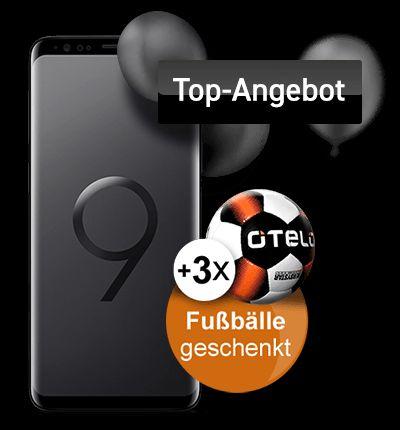 Otelo Allnet-Flat Classic LTE + Samsung Galaxy S9 64GB + 3x Otelo Fußbälle (Vodafone)