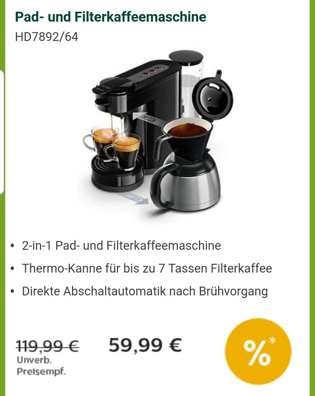 Senseo Switch Kaffemaschine Padmaschine im Philips Onlineshop