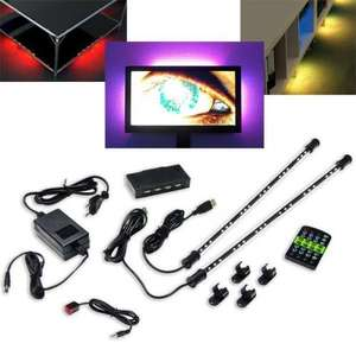 Revoltec LED Lichtleiste Ambiente Beleuchtung TV Backlight Set RM103 33€