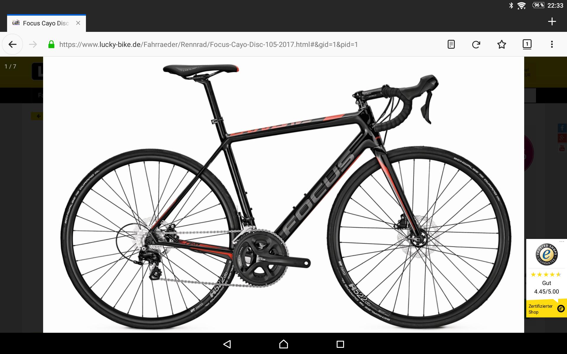 Focus Cayo disc 105 Rennrad Carbon - UVP: 2499€
