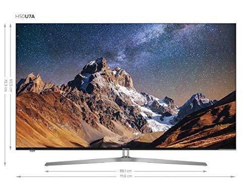 Amazon: Hisense H50U7A 126 cm (50 Zoll) Fernseher (Ultra HD, HDR Plus, Triple Tuner, Smart TV, USB-Aufnahmefunktion) [Energieklasse A]