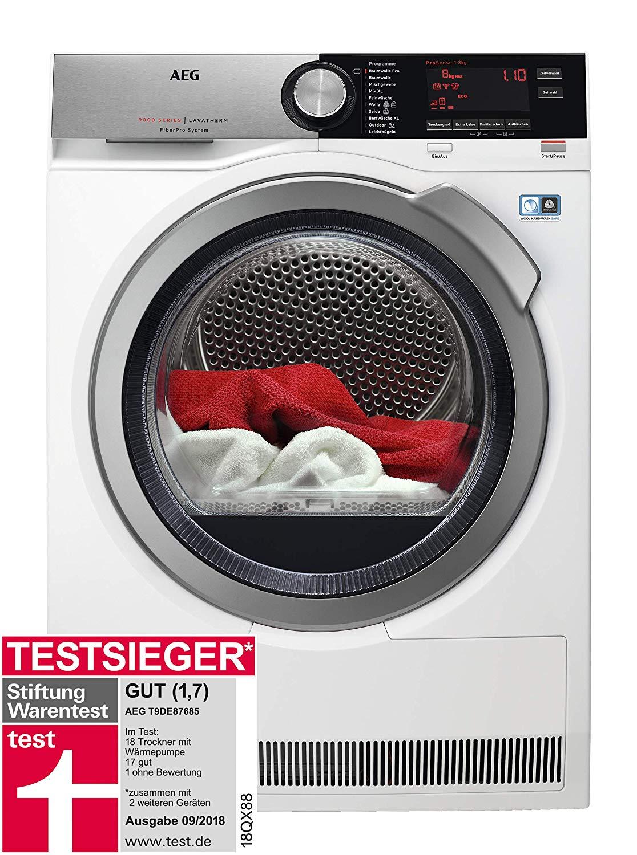 AEG T9DE87685: Wärmepumpentrockner / 8kg / A+++ / Testsieger Stiftung Warentest September 2018  [Amazon]