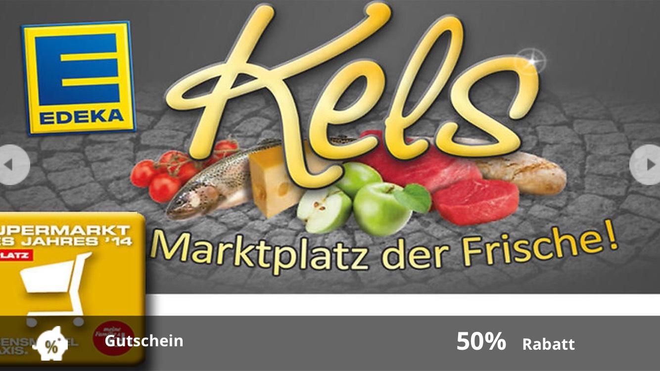 50€ Gutschein für 27,50€ (Edeka Kels in Mülheim)
