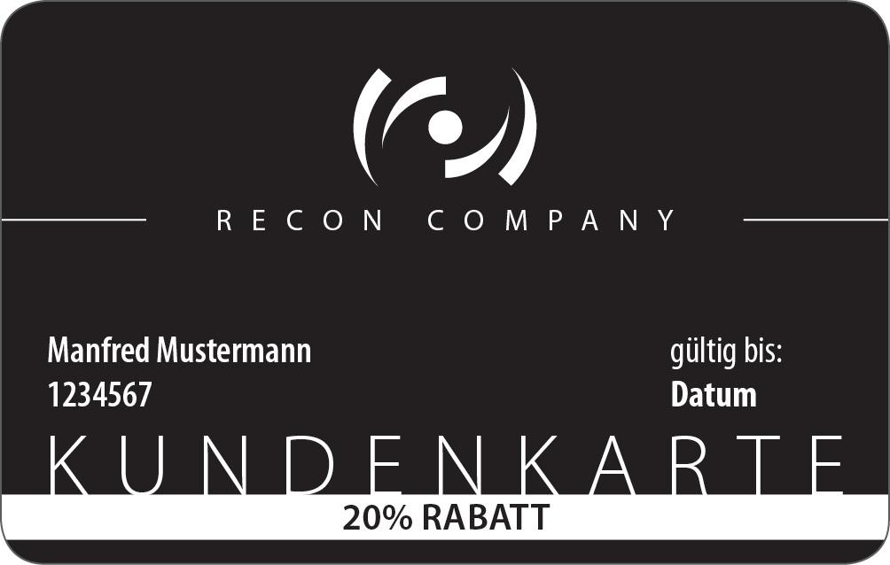 Recon Company Kundenkarten (Rabattkarten) im Angebot (1 Jahr 10% für 9,99€ oder 20% für 19,99€)