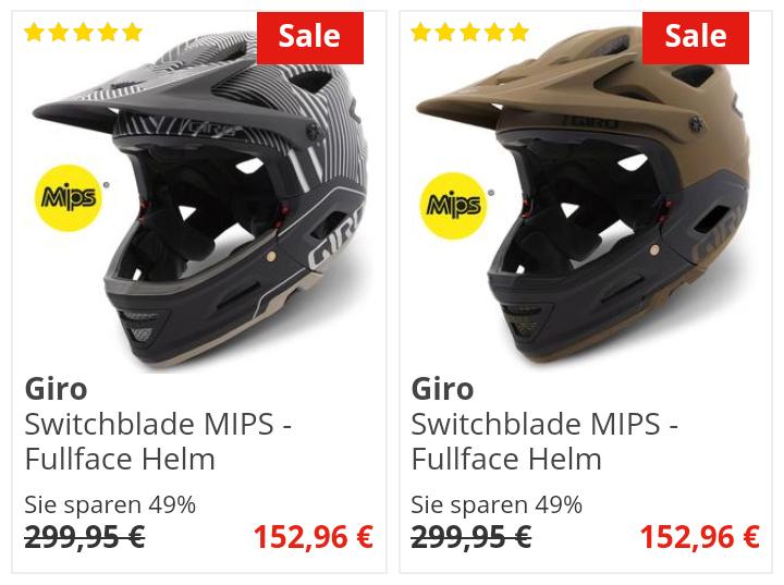 [Bike-Discount] Giro Switchblade MIPS Fullface abnehmbarer Kinnbügel