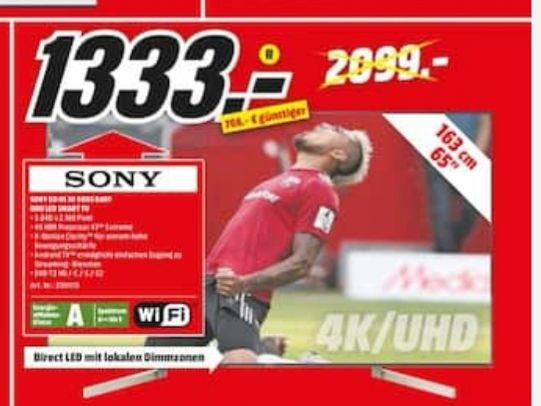Sony 65 XF9005 Media Markt Stuttgart und Umgebung
