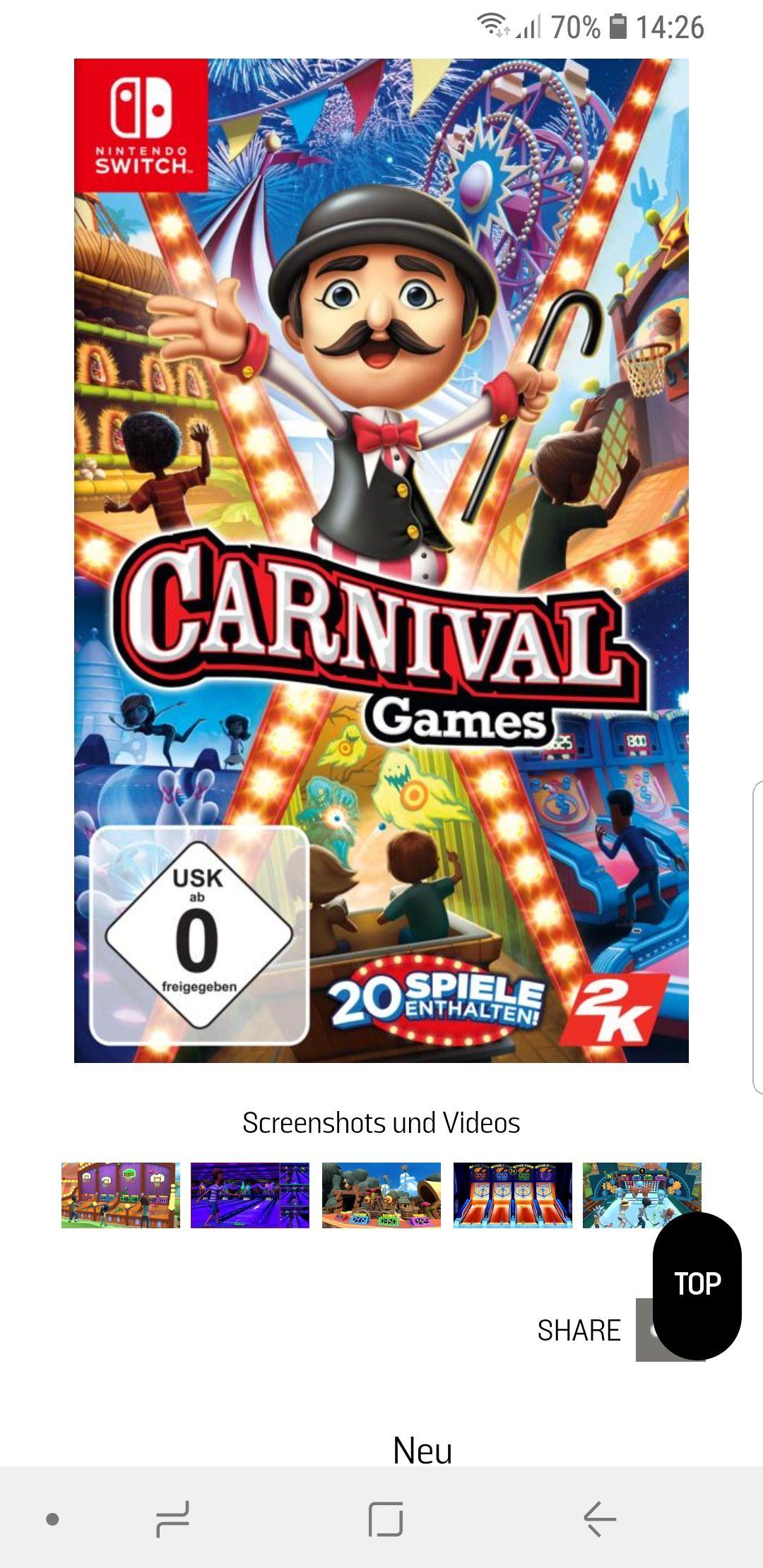Carnival Games für Nintendo Switch bei Gamestop
