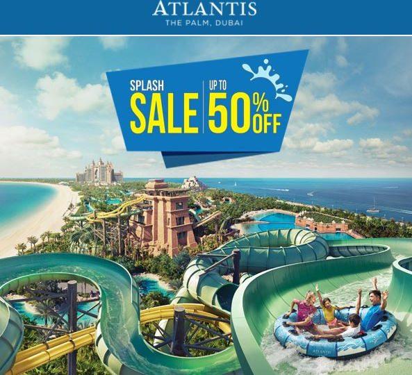 [Dubai] Atlantis Aquaventure Waterpark + The Lost Chambers - 50% sparen