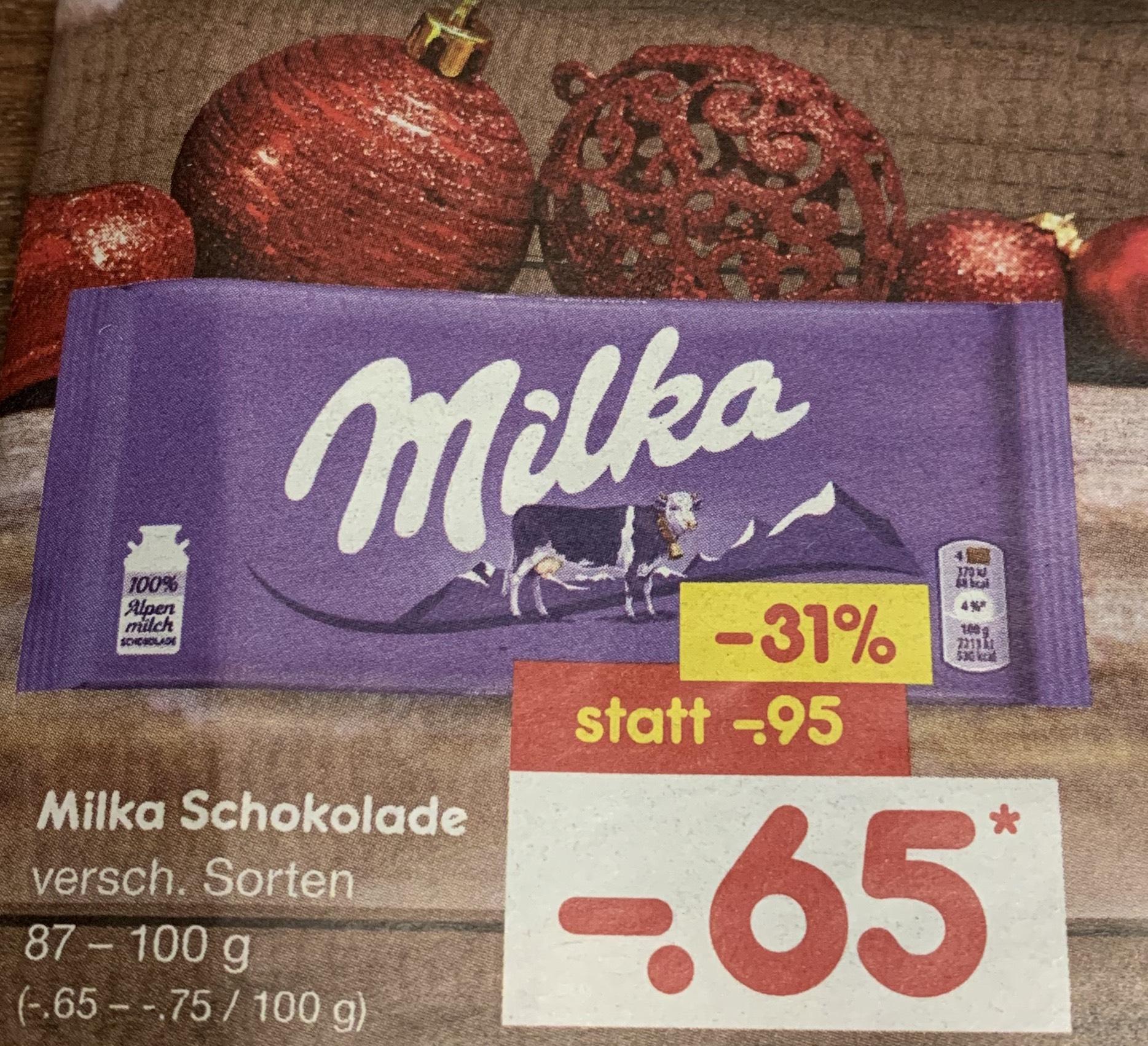 Milka Schokolade im Angebot bei NETTO MD