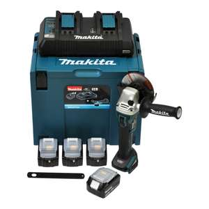 Makita Power Source Kit Li 18,0V 4x 3Ah + DGA504Z + Makpac 4 + DC18RD für 280€ [Contorion]