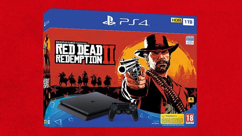 *Nur für Schweizer* Ps4 Slim 1TB + Red Dead Redemption 2 + 2 Controller
