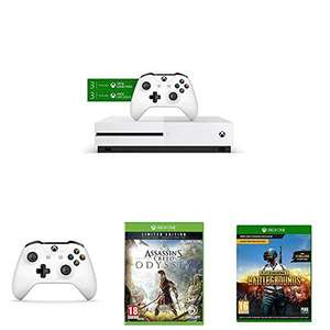 Xbox One S 1+  3 Monate Game Pass & 3 Monate Live Gold + 2. Controller + Assassin's Creed Odyssey + PUBG +  Gears of War (digital)