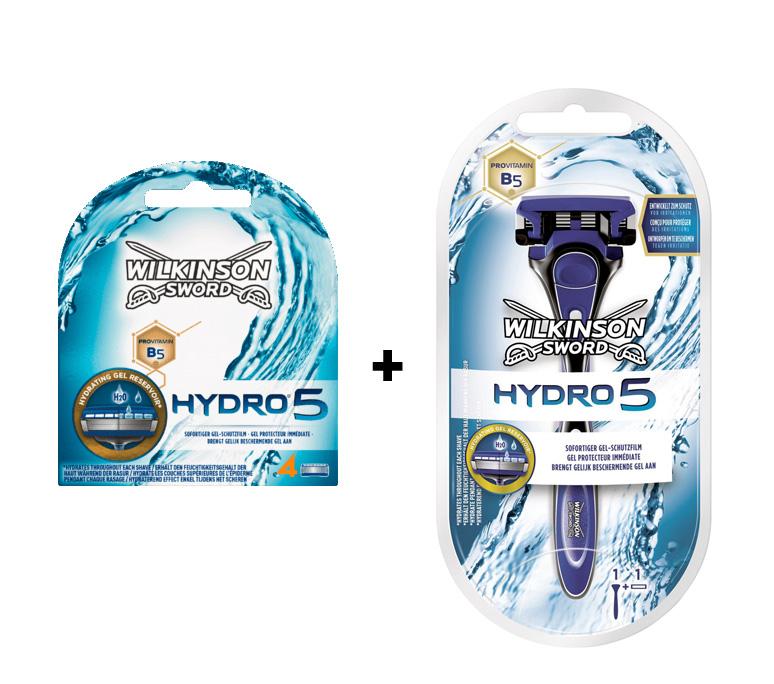 4x Wilkinson Hydro5 Klingen (3€ Sofortrabatt) & ggf. gratis dazu: 1x Hydro5 Rasierer bei Rossmann