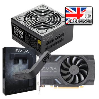 EVGA GeForce GTX 1060 SC GAMING + EVGA SuperNOVA 550 G3 Power Supply (UK Cable) + EVGA PowerLink
